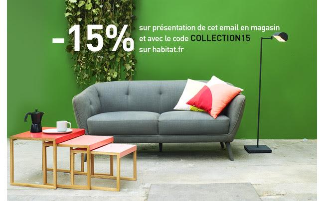 -15% pour découvrir la nouvelle collection Habitat