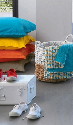 Nouvelle collection maison La Redoute x Bensimon : du linge coloré !
