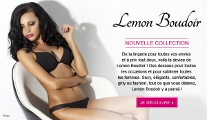 La nouvelle collection lingerie Lemon Boudoir + bon plan