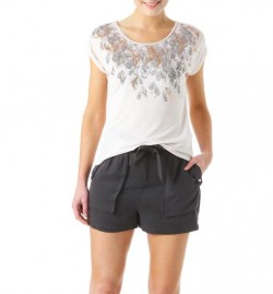T-shirt imprimé plumes – Imprimé Saumon – Tops / T-shirts – Femme – Promod