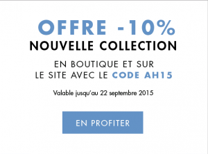 10% sur la nouvelle collection Caroll