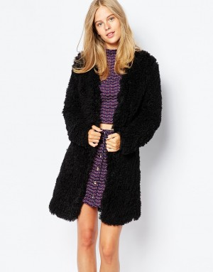 First & I | First & I – Cardigan style manteau en fausse fourrure pelucheuse che ...