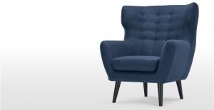 Kubrick, un fauteuil bergère, bleu cobalt | made.com