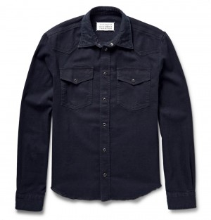 Maison Margiela – Western Slim-Fit Stretch-Denim Shirt | MR PORTER