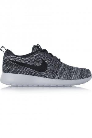 Nike|Baskets en résille Flyknit Roshe One|NET-A-PORTER.COM