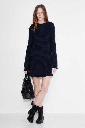 robe pour femme jada robe laine acrylic marine Zadig & Voltaire