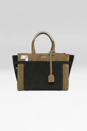 sac pour femme small candide suede noir kaki Zadig & Voltaire