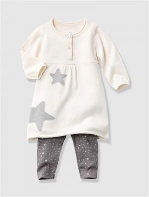 Ensemble bébé fille robe + legging, Bébé