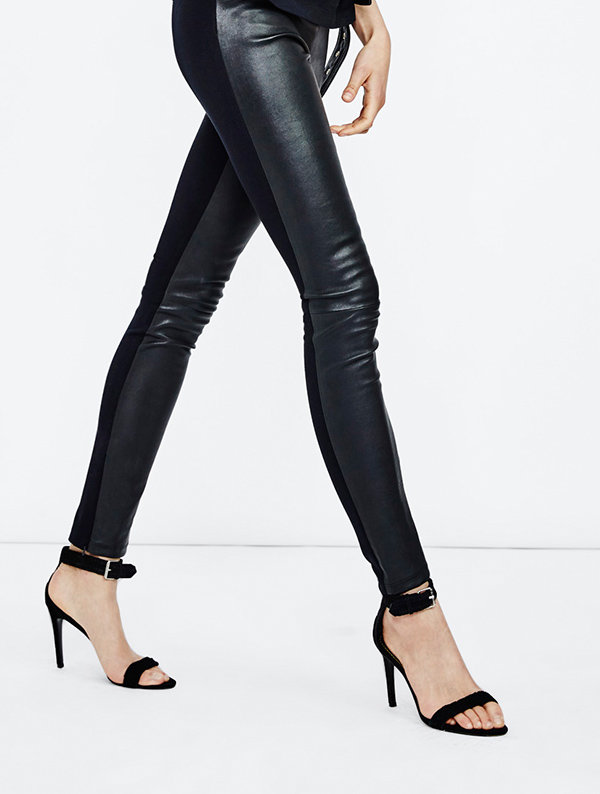 pantalon-cuir-maje