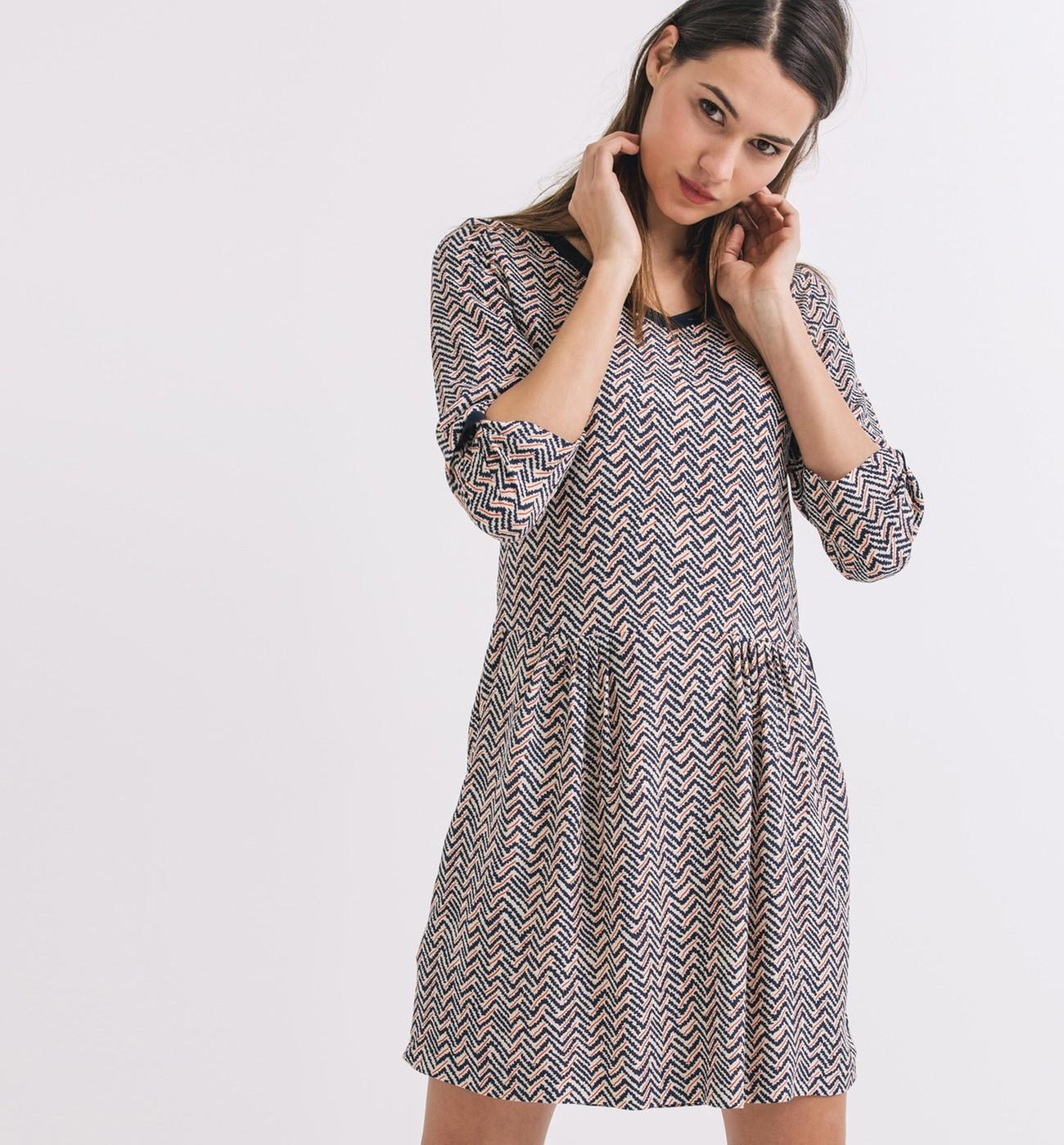 bba0efd1dcf1e A shopper sur   www.promod.fr. Robe imprimée crêpée – Imprimé multicolore –  Robes – Femme ...