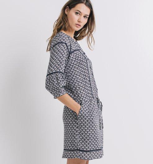 d322f179b8c Robe imprimée Femme - Imprimé bleu - Robes - Femme - Promod