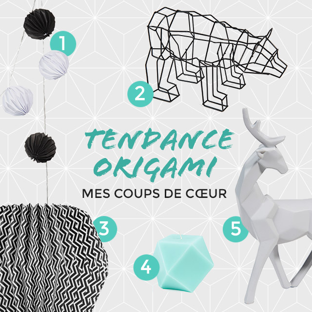 tendance origami chez maisons du monde. Black Bedroom Furniture Sets. Home Design Ideas