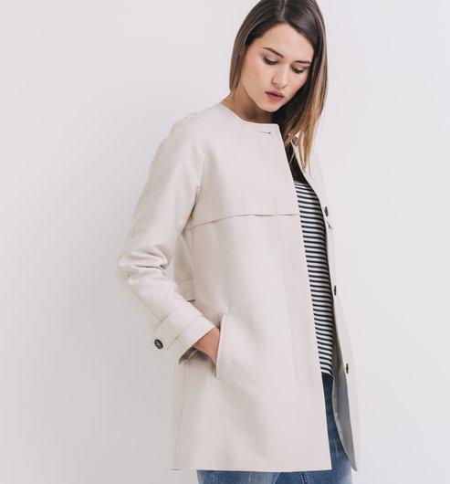 trench court femme beige manteaux femme promod. Black Bedroom Furniture Sets. Home Design Ideas
