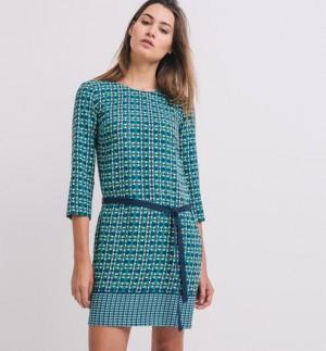 1ab6b73e59314 Robe tunique Elise Chalmin – Imprimé vert émeraude – Robes – Femme – Promod