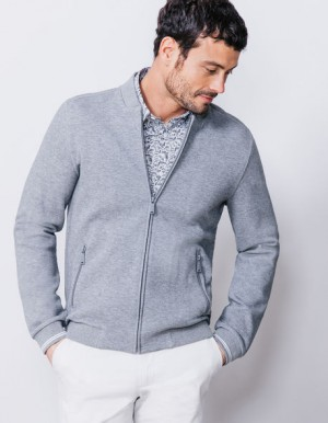 SWEATSHIRT ZIPPE COL TEDDY – Brice