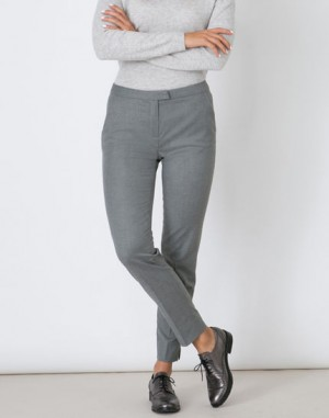 Pantalon gris droit Lara – 123