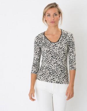 Tee-shirt imprimé animalier Lisanne – 123