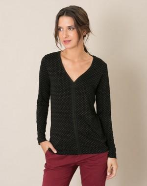 Tee-shirt noir à pois Lutin – 123