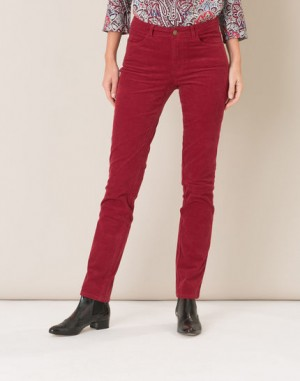 Pantalon rouge en velours William – 123