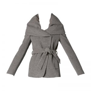 Manteau gris chiné ceinturé Mona – Sinéquanone