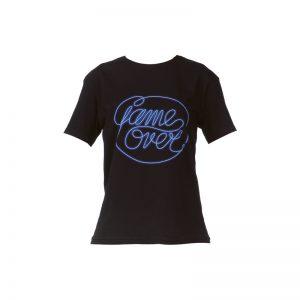 T-shirt noir printé Game Over – Eleven Paris
