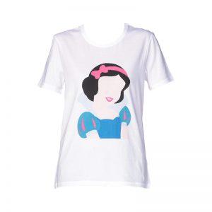 T-shirt blanc printé Blanche Neige – Eleven Paris