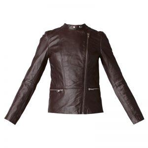 Veste cuir marron Lisa – Naf Naf