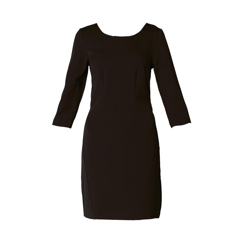 Robe noire manches 3/4 Asmin – Vila