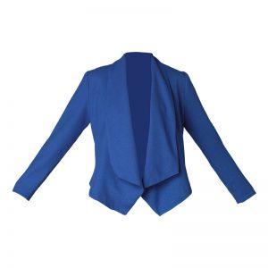 Blazer asymétrique bleu – Molly Bracken