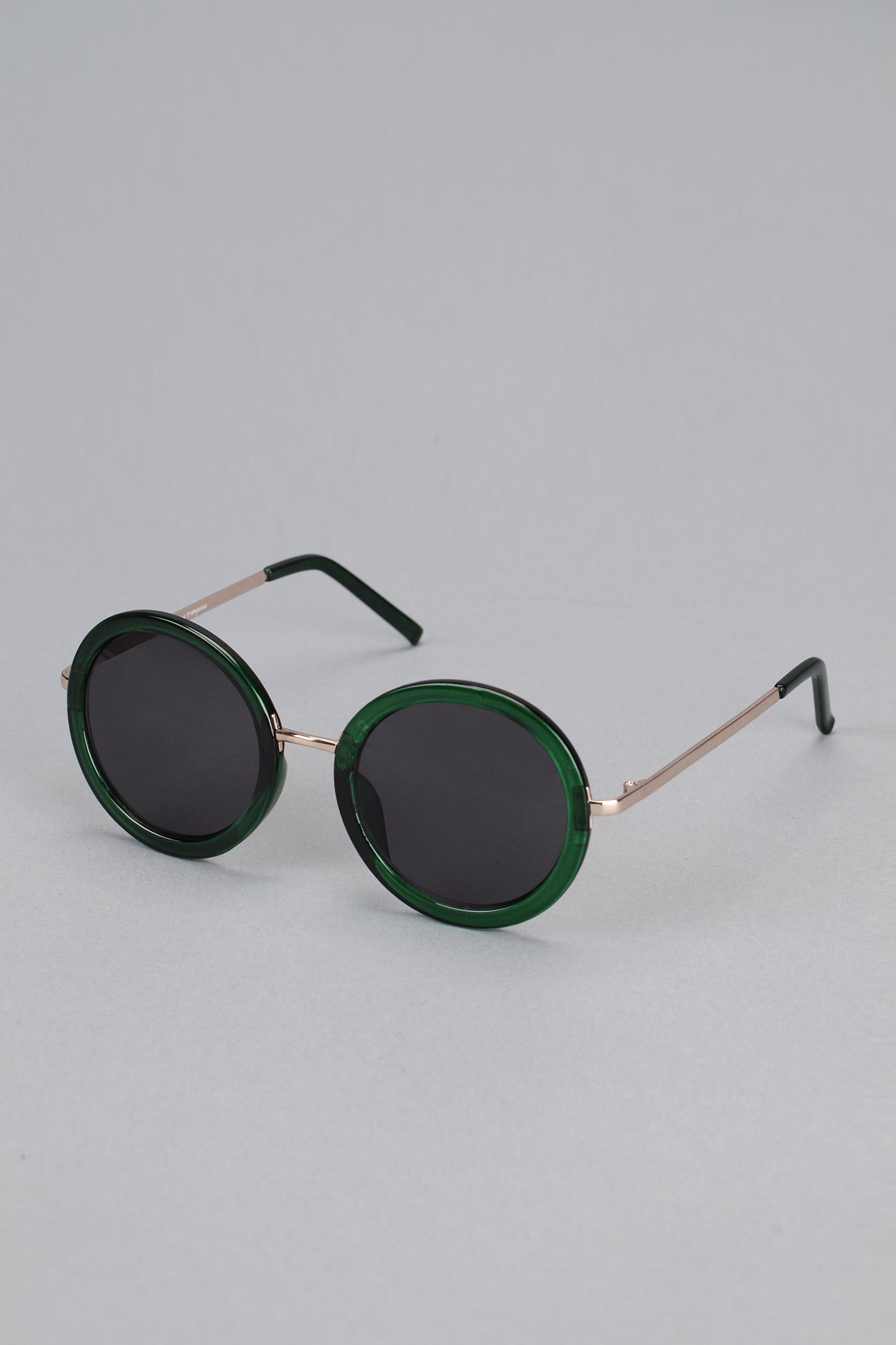 72c67aac71 Lunettes de soleil rondes monture verte - Iyü Design