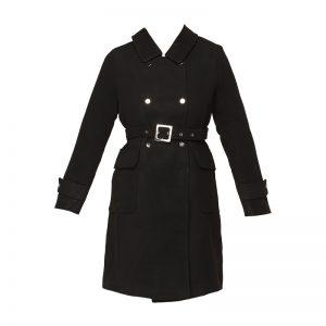 Manteau ceinturé noir – Molly Bracken