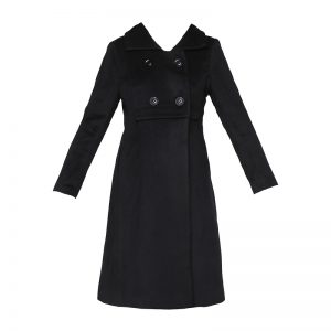 Manteau long noir doux – Molly Bracken