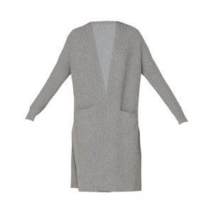 Gilet côtelé fendu gris poches – Ralph Lauren