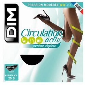 Collants Noirs 25d Circulation Active Femme Dim – 3 Suisses