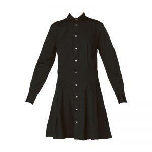 Robe chemise plissée noire Charlotte – Ralph Lauren