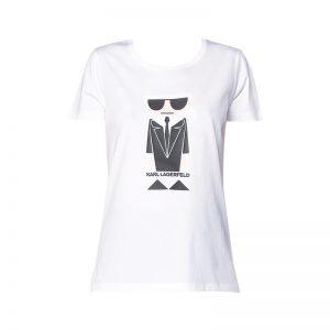 T-shirt blanc imprimé Karl Kocktail – KARL LAGERFELD