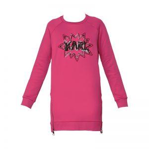 Robe sweat rose logo sequins  – Karl Lagerfeld