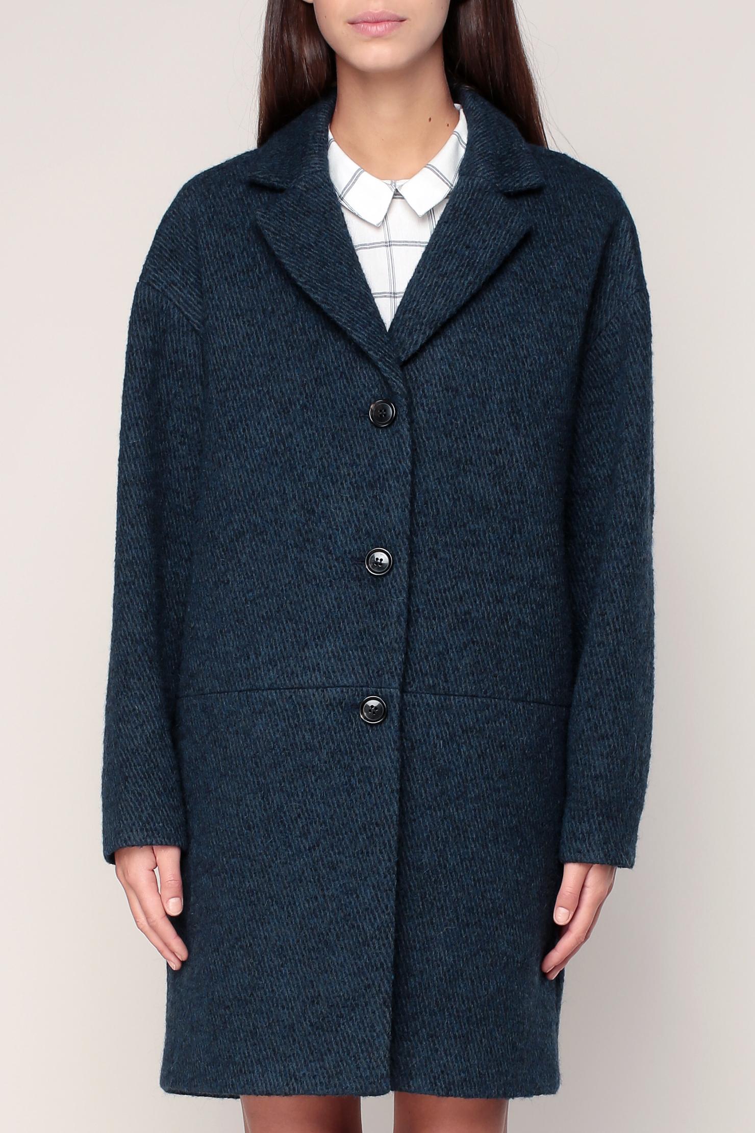 A shopper sur   monshowroom.com. Manteau en laine vierge bleu mélangé  Melissa – Pablo de Gérard Darel eb672fe78b2a