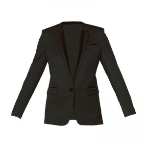Blazer noir empiècements velours noir bouton fantaisies Stretch Smoking – The Kooples