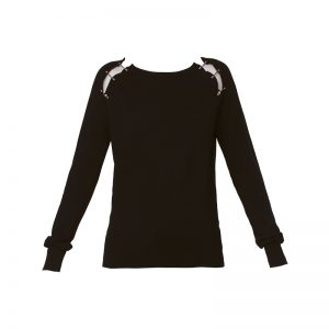 Pull cachemire noir accroches métal fantaisies  FPUL1364 – The Kooples