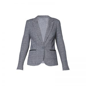Blazer bleu fumé chiné jersey/denim – Vero Moda