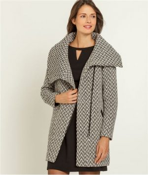 bc02d46467b1 Manteau femme imprimé et large col – Grain de Malice