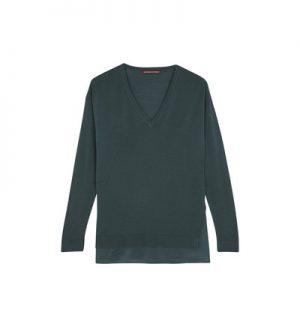 Pull loose bi matière en laine et soie Belette – Comptoir Des Cotonniers