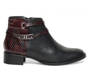 Boots multibrides cuir noir  Eram