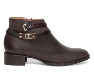 Boots bride cuir marron  Eram