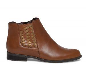 Boots cuir tressé camel  Eram