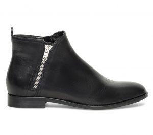 Boots zip cuir noir  Eram