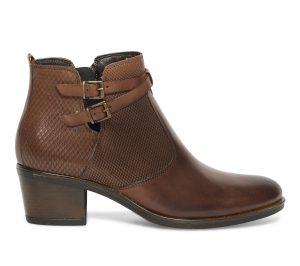 Boots cut out cuir marron  Eram