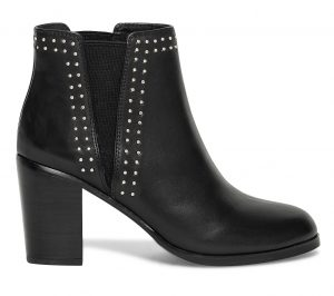 Chelsea boots clous cuir noir  Eram