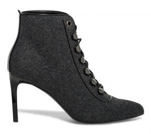 Boots lacets talon stiletto gris  Eram